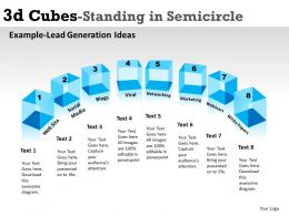 3d Cubes Standing in Semicircle 5