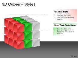 3D Cubes Style 1 colorful 6
