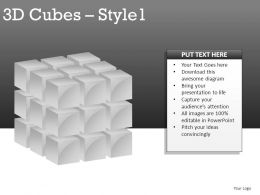 3d Cubes Style 1 Powerpoint Presentation Slides