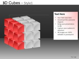 3D Cubes Style 1 Powerpoint Presentation Slides DB