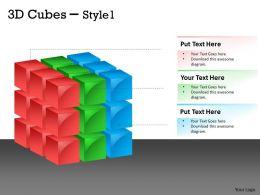 3D Cubes Style 1 PPT 156