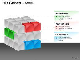 3D Cubes Style 1 PPT 157