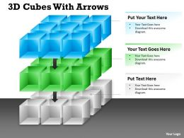 3D Cubes With Arrows diagram 10