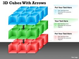 3D Cubes With Arrows PPT 11