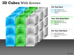 3D Cubes With Arrows PPT 159