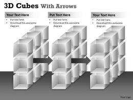 3D Cubes With Arrows PPT 162