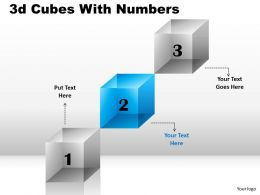 3D Cubes With Numbers 3 Stages 6