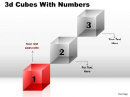 3D Cubes With Numbers Diagram 7