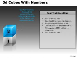 3D Cubes With Numbers Powerpoint Presentation Slides DB