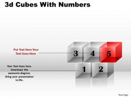 3d Cubes With Numbers PPT 100