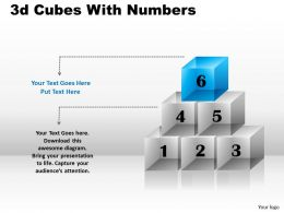 3d Cubes With Numbers PPT 164