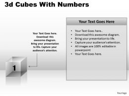 3d Cubes With Numbers PPT 165