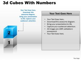 3d Cubes With Numbers PPT 166