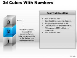 3d Cubes With Numbers PPT 167