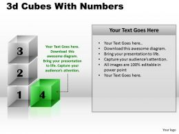 3d Cubes With Numbers PPT 168