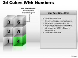 3d Cubes With Numbers PPT 170