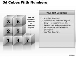 3d Cubes With Numbers PPT 171