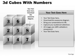 3d Cubes With Numbers PPT 172
