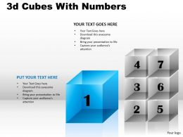 3d Cubes With Numbers PPT 175