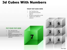3d Cubes With Numbers PPT 176