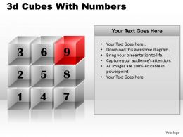 3d Cubes With Numbers PPT 90