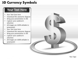 3D Currency Symbols PPT 10