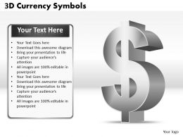 3D Currency Symbols PPT 1