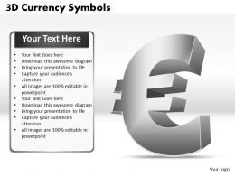 3D Currency Symbols PPT 2