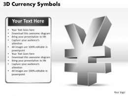 3D Currency Symbols PPT 4