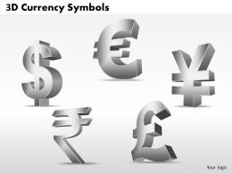 3D Currency Symbols PPT 6