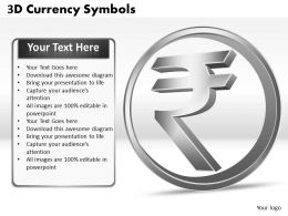3D Currency Symbols PPT 7