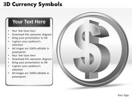 3D Currency Symbols PPT 9