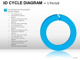 3D Cycle Diagram Powerpoint Presentation Slides
