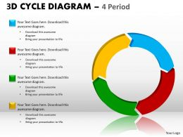3D Cycle Diagram PPT 2