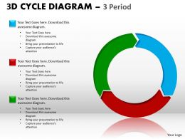 3D Cycle Diagram PPT 8