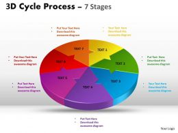3D Cycle Process diagram Flow Chart 7 Stages Style 4