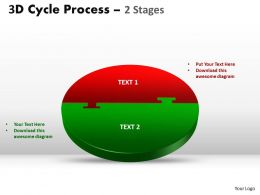 3D Cycle Process Flow Chart 2 Stages Style flow 4