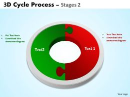 3D Cycle Process Flowchart Stages 2 Style 3