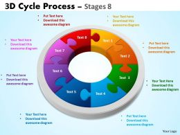 3D Cycle Process Flowchart Stages 8 Style 3 9