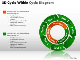 3D Cycle Within Cycle Diagram PPT 2