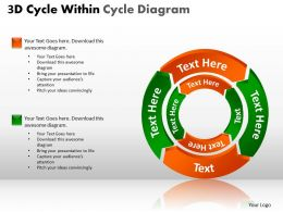 3D Cycle Within Cycle Diagram PPT 3