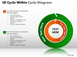3D Cycle Within Cycle Diagram PPT 4