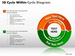 3D Cycle Within Cycle Diagram PPT 5