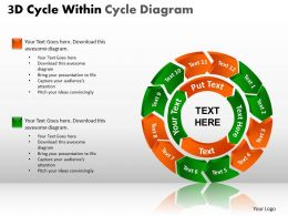 3D Cycle Within Cycle templates Diagram PPT 1