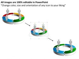 3d cyclic chart 4 stages powerpoint diagrams presentation slides graphics 0912