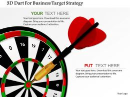 3d Dart For Business Target Strategy Image Graphics For Powerpoint