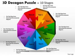 3D Decagon Puzzle diagram Process 5