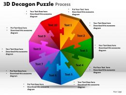 3D Decagon Puzzle Process 1