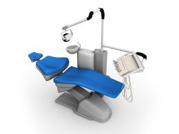 3d Dental Chair For Treatment Stock Photo