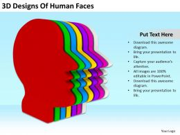 3D Designs Of Human Faces Ppt Graphics Icons
